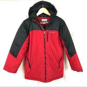 LIKE NEW! Columbia hooded winter puffer coat